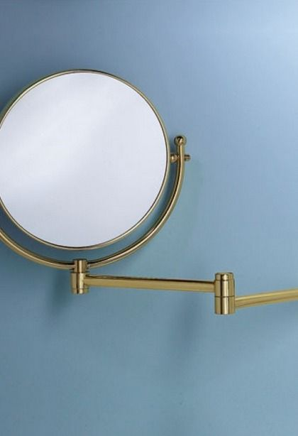 A swinging vanity mirror is adds flexibility and functionality to your bathroom.