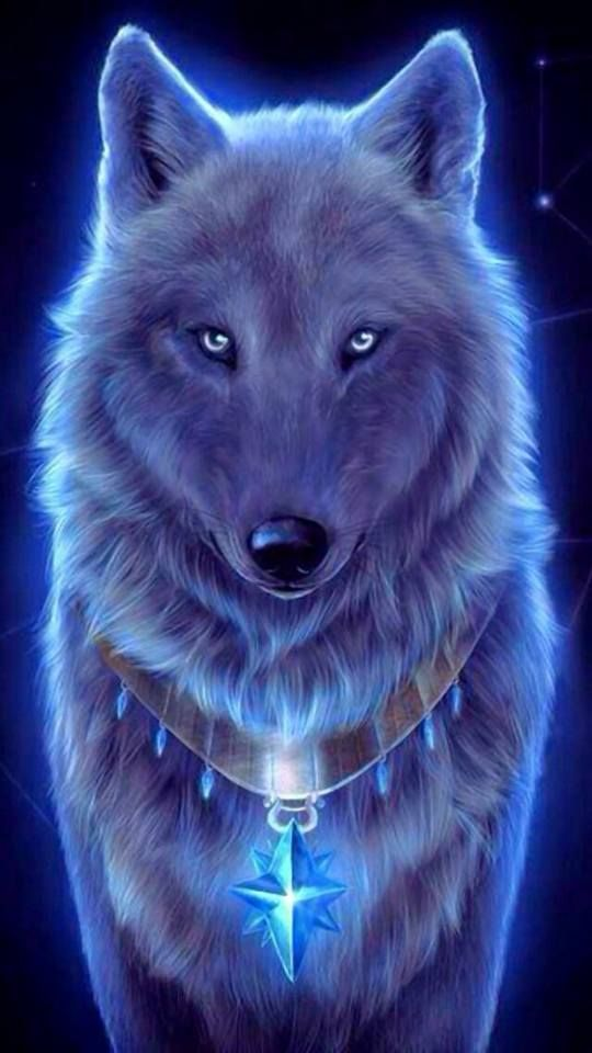 White Wolf With Purple Eyes Zedge | Free do...