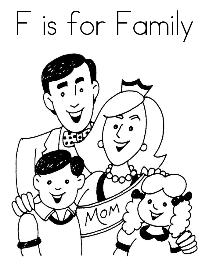 Top 10 Free Printable Family Coloring Pages Online | Quality time ...