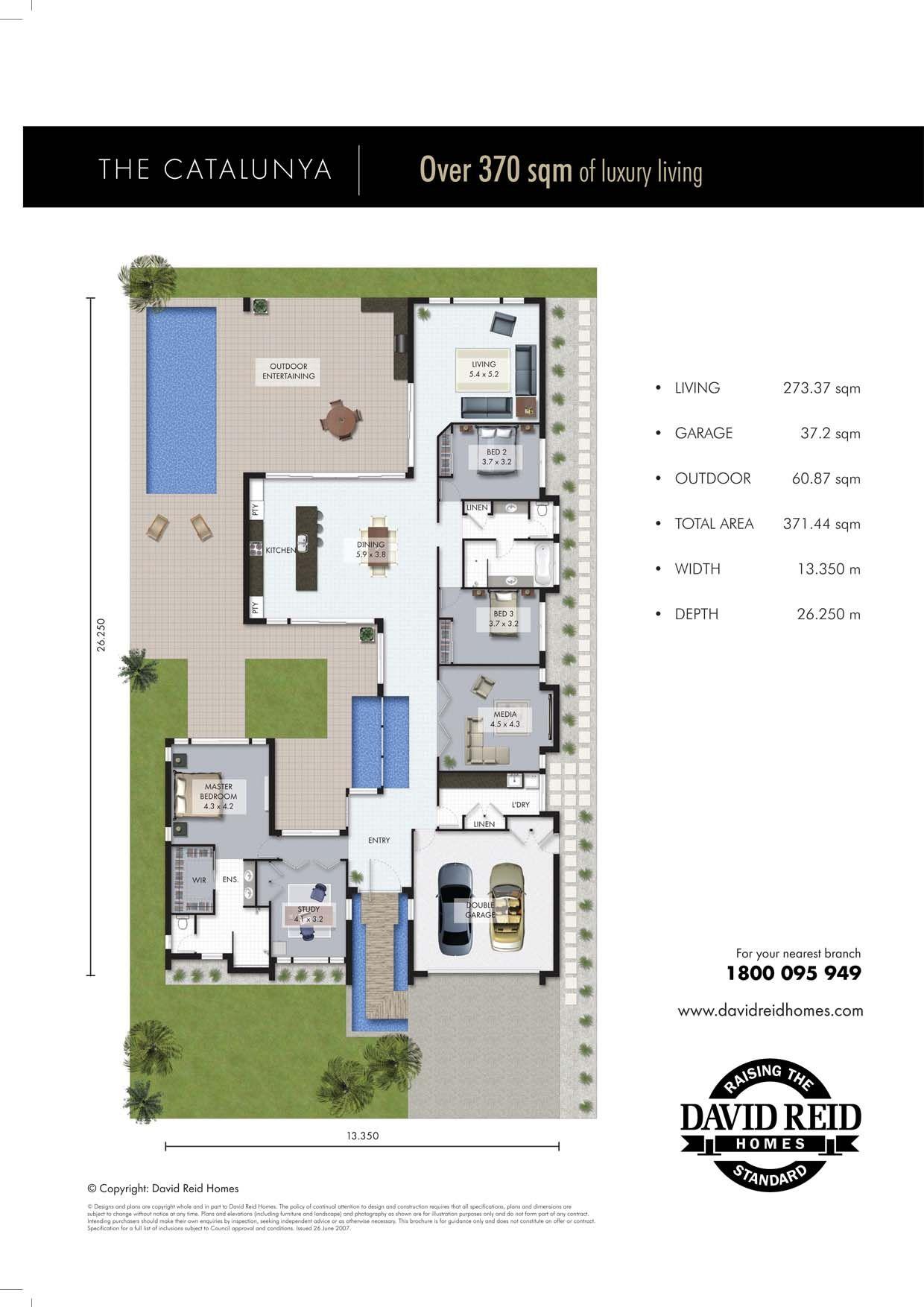 The catalunya floor plan concept range david reid homes for Custom luxury floor plans