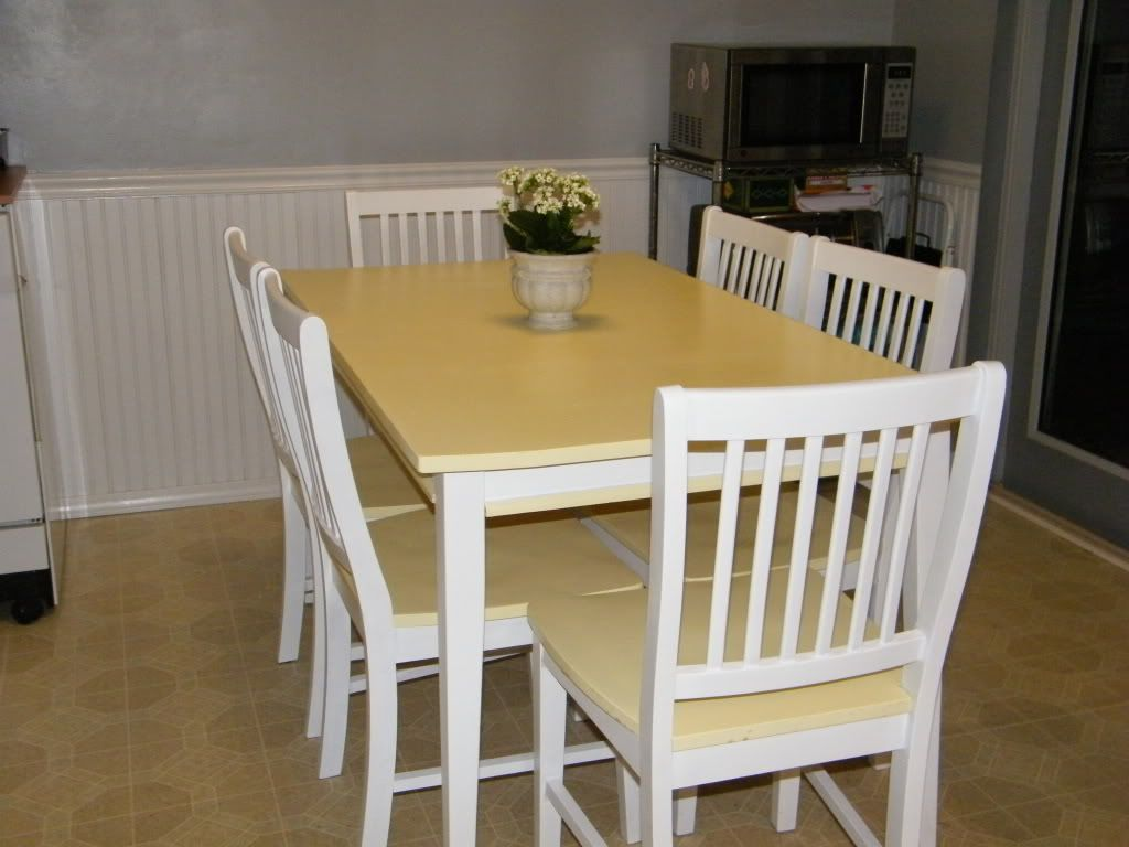 painted kitchen table and chairs my craft stuff