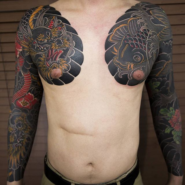 clean and stunning japanese tattoos by haewall oriental tattoo pinterest tatouage. Black Bedroom Furniture Sets. Home Design Ideas