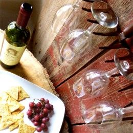 Rake Wine Glass Rack By Renaissance Woman