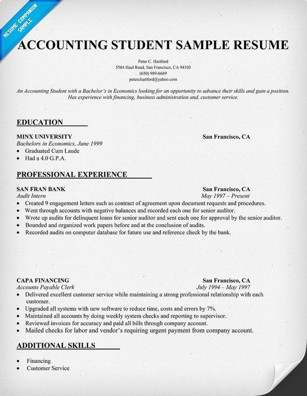 accountant resume sle sle resumes News to Go 2 Pinterest