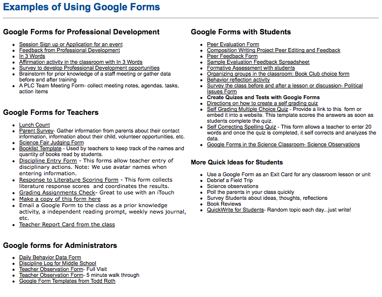 69 best google forms for everything images on pinterest so many examples of how to use google forms with students teachers and admin pronofoot35fo Choice Image