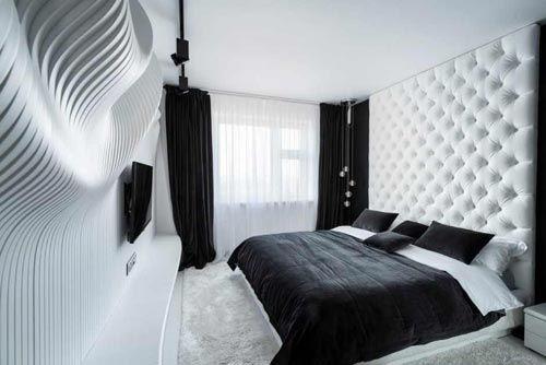 moderne zwart witte slaapkamer | slaapkamer ideeën - anja, Deco ideeën