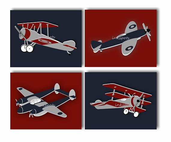 Airplane Wall Art Nursery Prints Transportation
