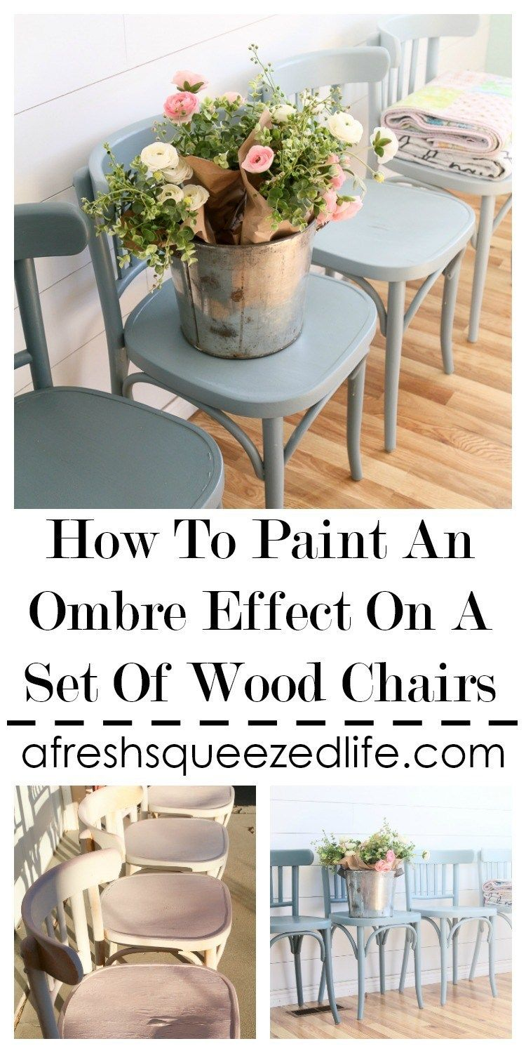 An Ombre Paint Effect Looks Great On A Set Of Pieces It Takes Is Knowing