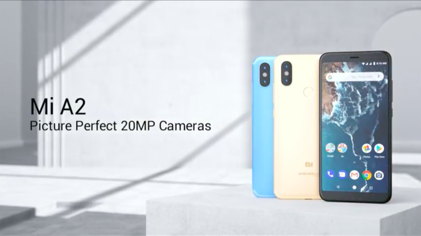22db9b2e972 #Xiaomi #MIA2 series released, camera & native android its main features  Xiaomi Mi A2 Global Version 5.99 inch 4GB RAM 64GB ROM Snapdragon 660 Octa  core 4G ...