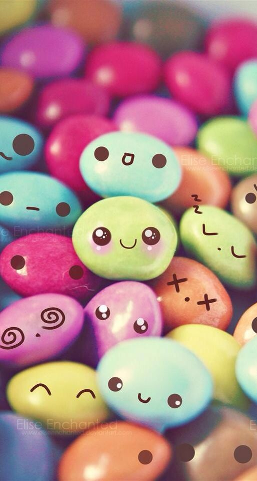 Candy Faces Cute Colorful Food Sweet Rainbow M