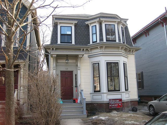 Mansard Victorian In Cambridge Massachusetts Mansard Roof Small House Exteriors House Exterior