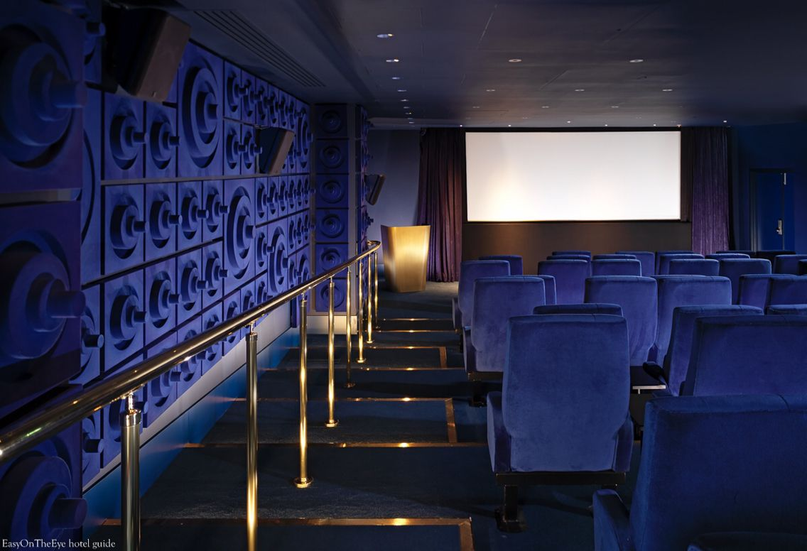 Mondrian London Hotel. Cinema #easyguide #travel #hotel #uk #london #mondrian #design #accomodation