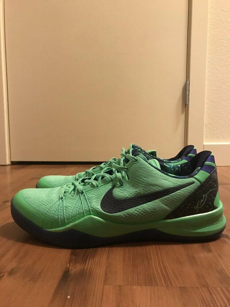 timeless design facad dbfa6 Nike Kobe 8 System Elite Superhero poison green blcknd bl-hypr bl size 13