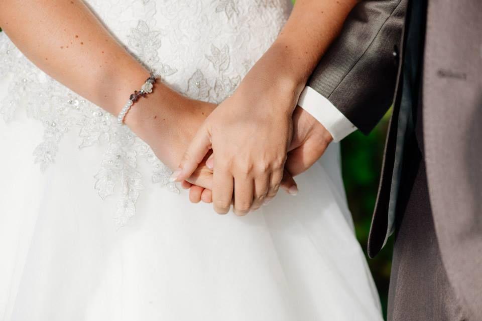 Armband gemaakt van glasparels, voor een hele mooie bruid