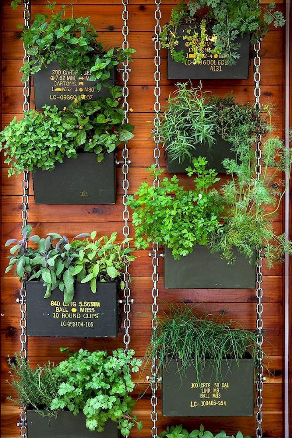 Nice 60 Adorable DIY Container Herb Garden Design Ideas  Https://roomaniac.com