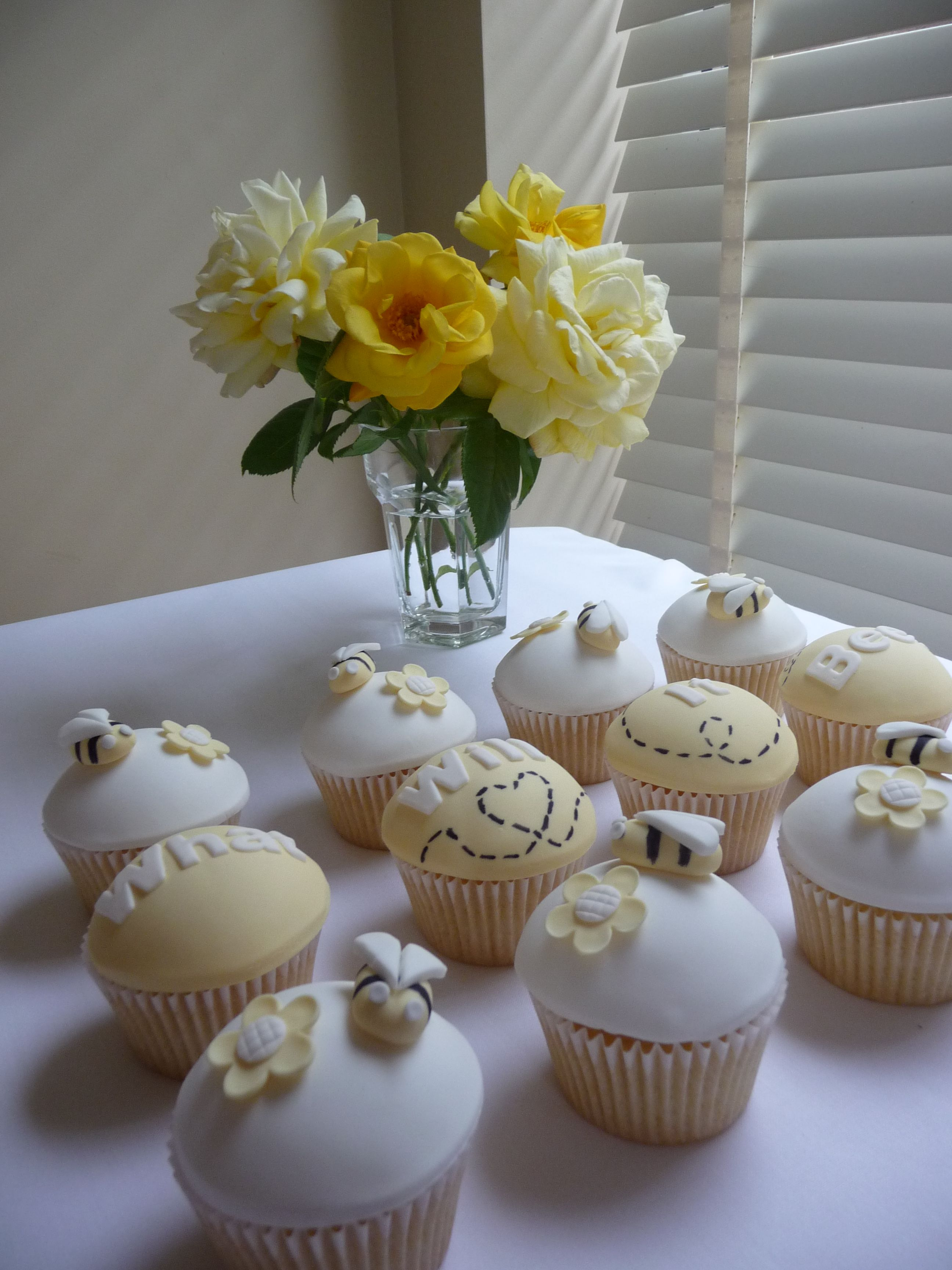 These Are Baby Shower Cupcakes With A Bumble Bee Theme