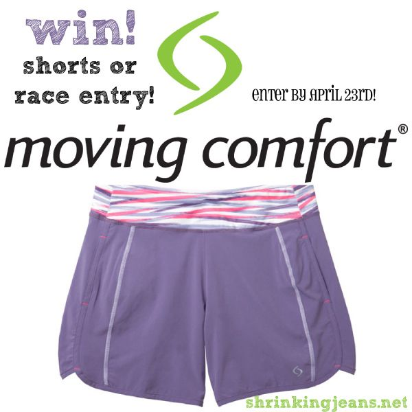 WIN! Enter by April 23 to win Work It Shorts from @movingcomfort or Virtual 5K/10K entry + tee from @shrinkingjeans! #giveaway #running