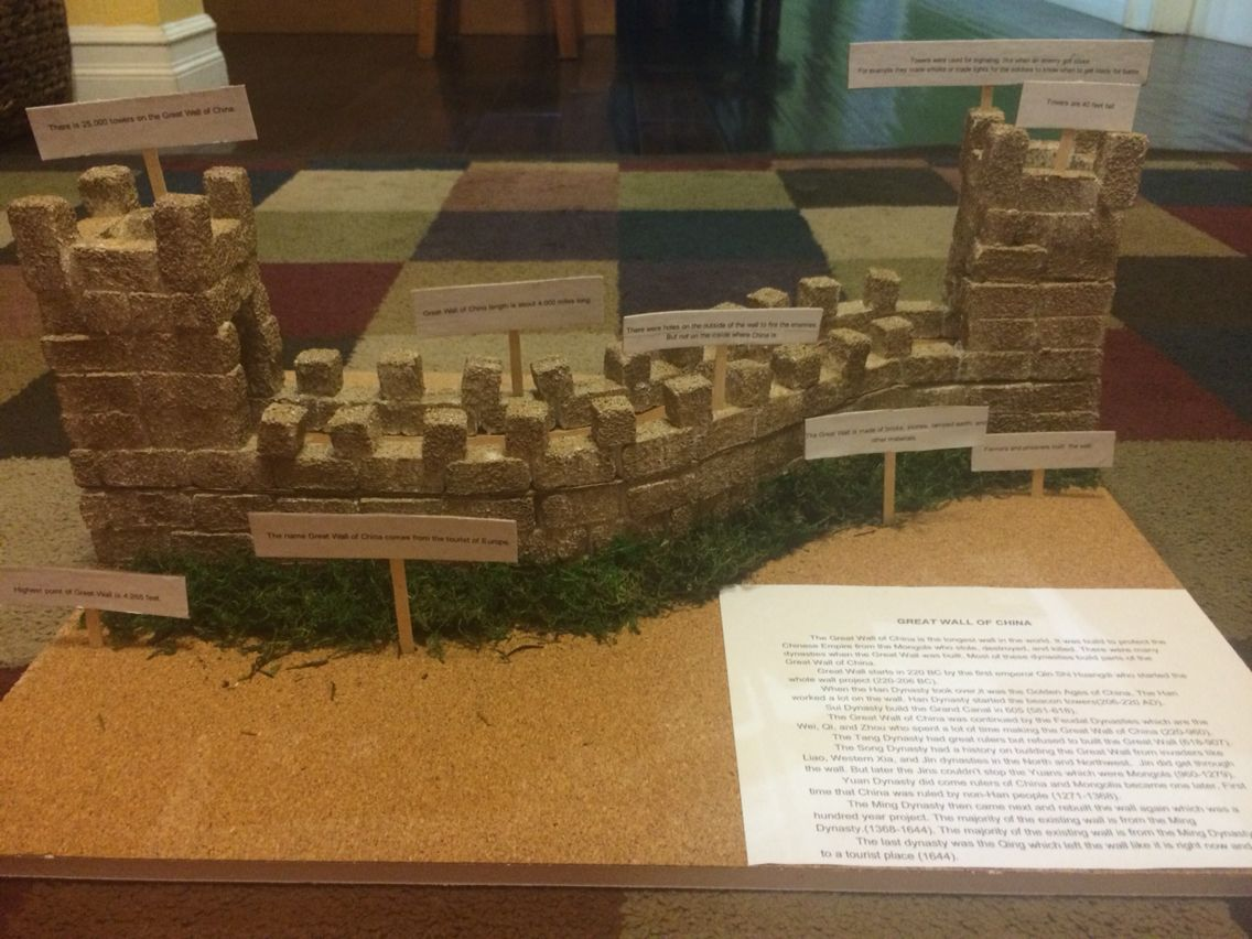 The Great Wall Of China 6th Grade Project