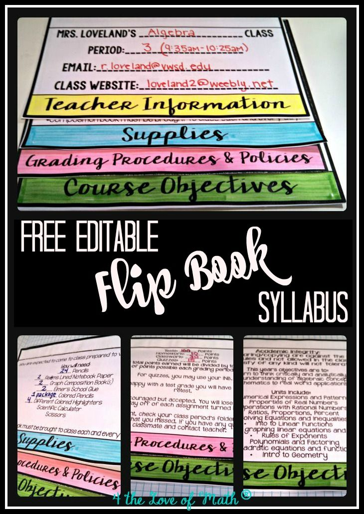 Able Easy To Edit Printable Flip Book Syllabus