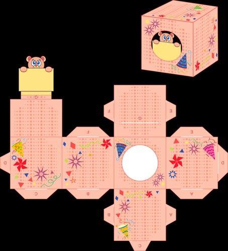 Caja cubo infantil.