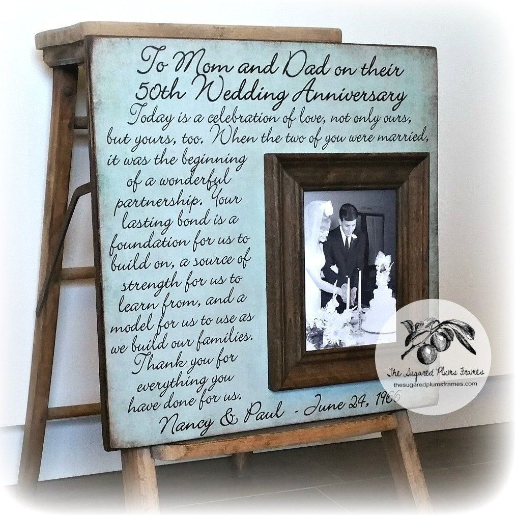 Gifts For Grandparents 50th Wedding Anniversary: 50th Anniversary Gifts For Grandparents Picture Frame