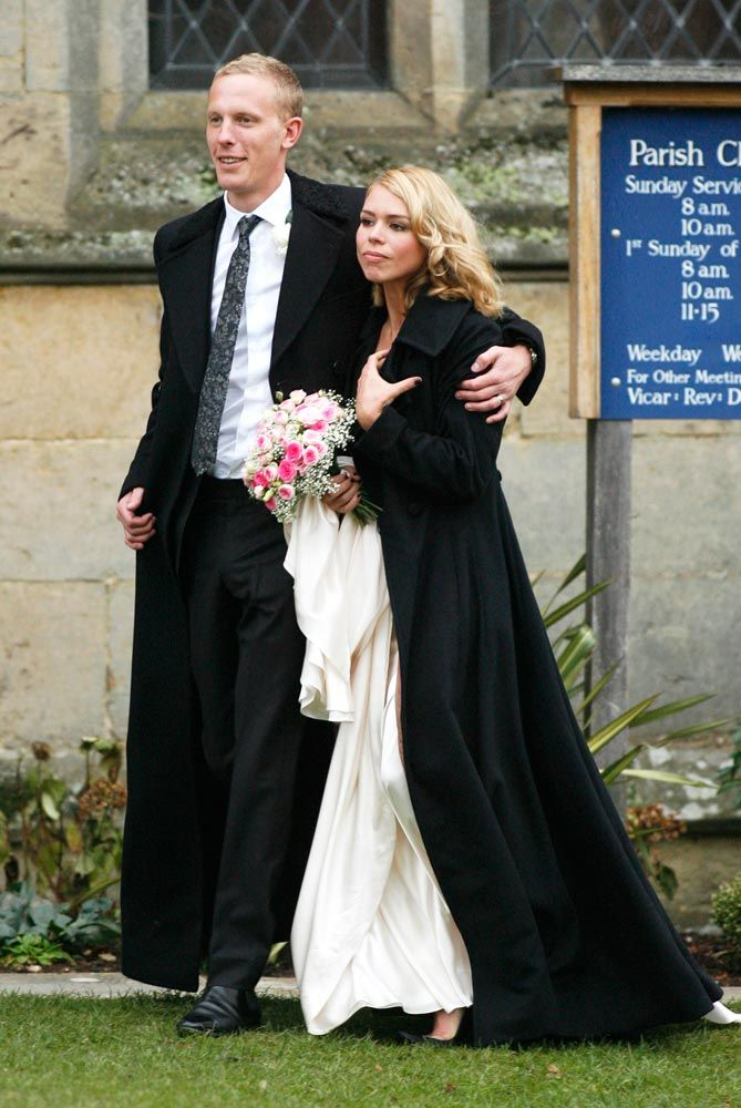 Billie Piper and Laurence Fox tie the knot at their