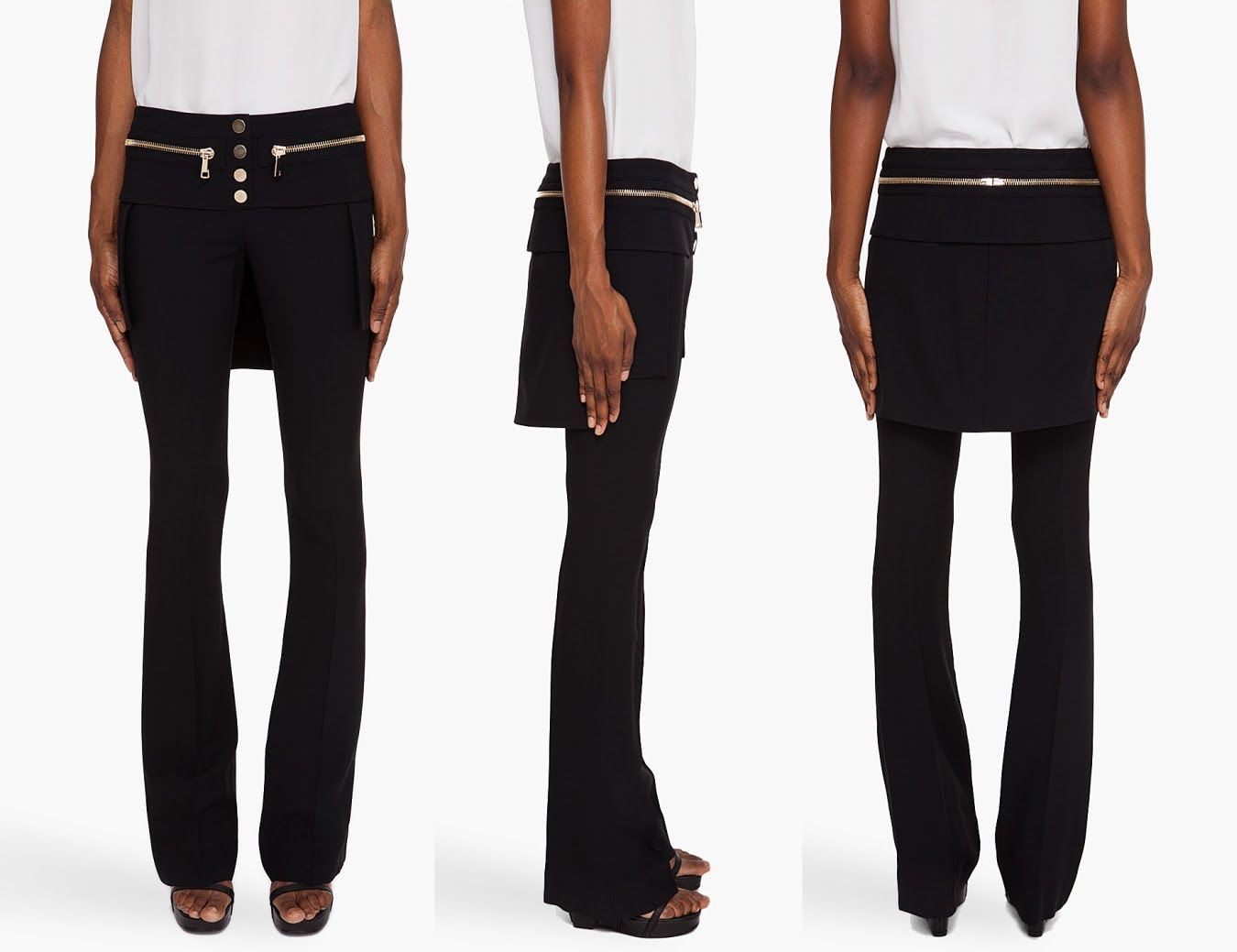 0aaac9586 Skirt on trousers. It´s coming back... | Fashion | Trousers, Black ...