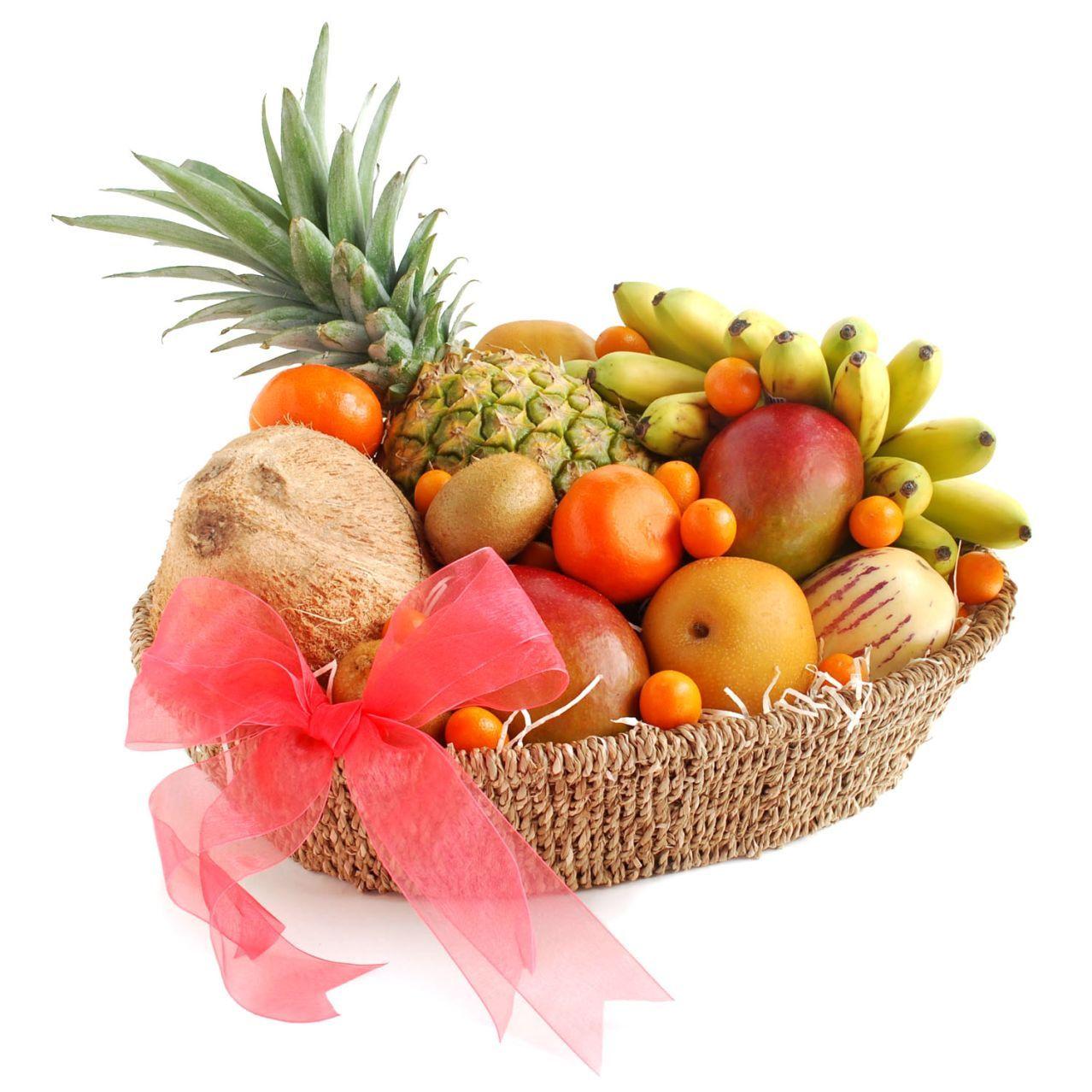Melissau0027s® Fresh Fruit Fare Gift Basket   Sur La Table