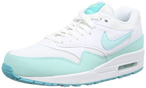 new product 32d68 d85c1 Nike Air Max 1 Essential, Damen Sneakers, Weiß (Whiteartisan teal-