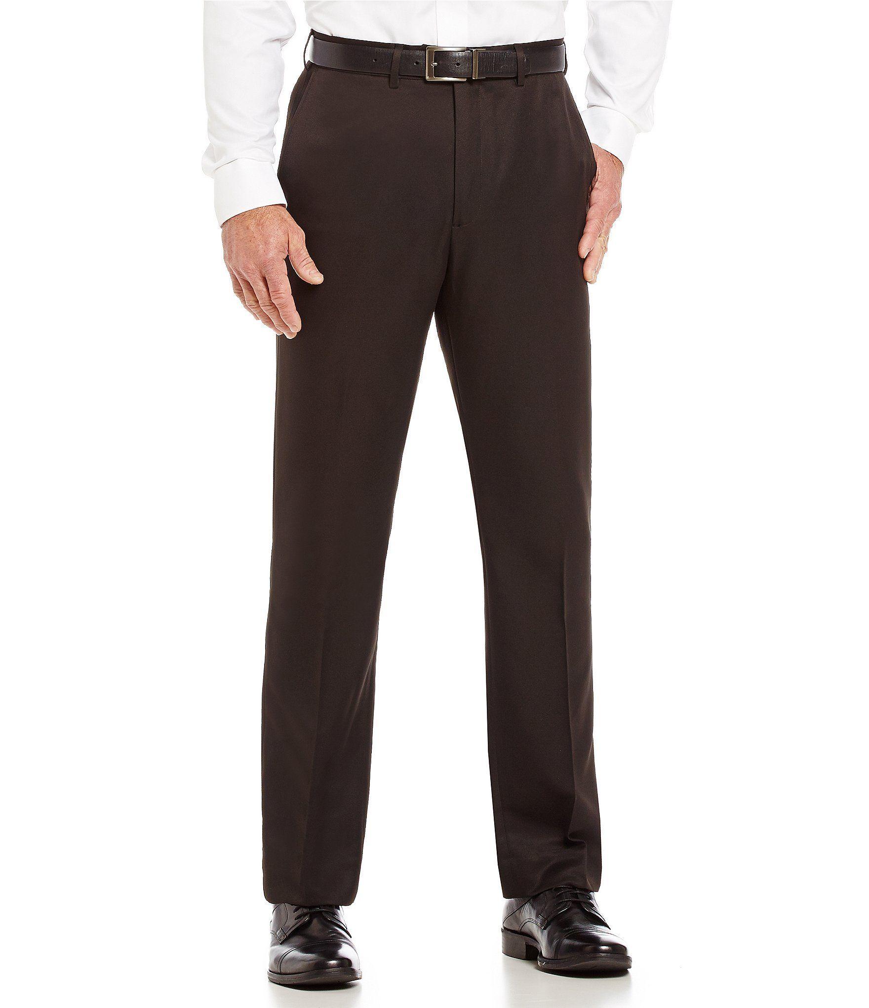 Roundtree Yorke Big Tall Classic Fit Travel Smart Flat Front Microfiber Stretch Dress Pants Black 50 2 Evening Dress Pants Microfiber Dress Pants For Women [ 2040 x 1760 Pixel ]