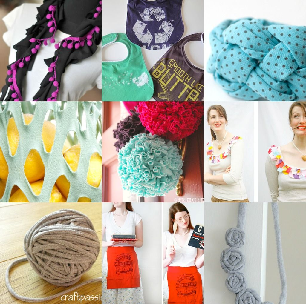10 Unique Ideas for Craft Projects Using Old T-Shirts