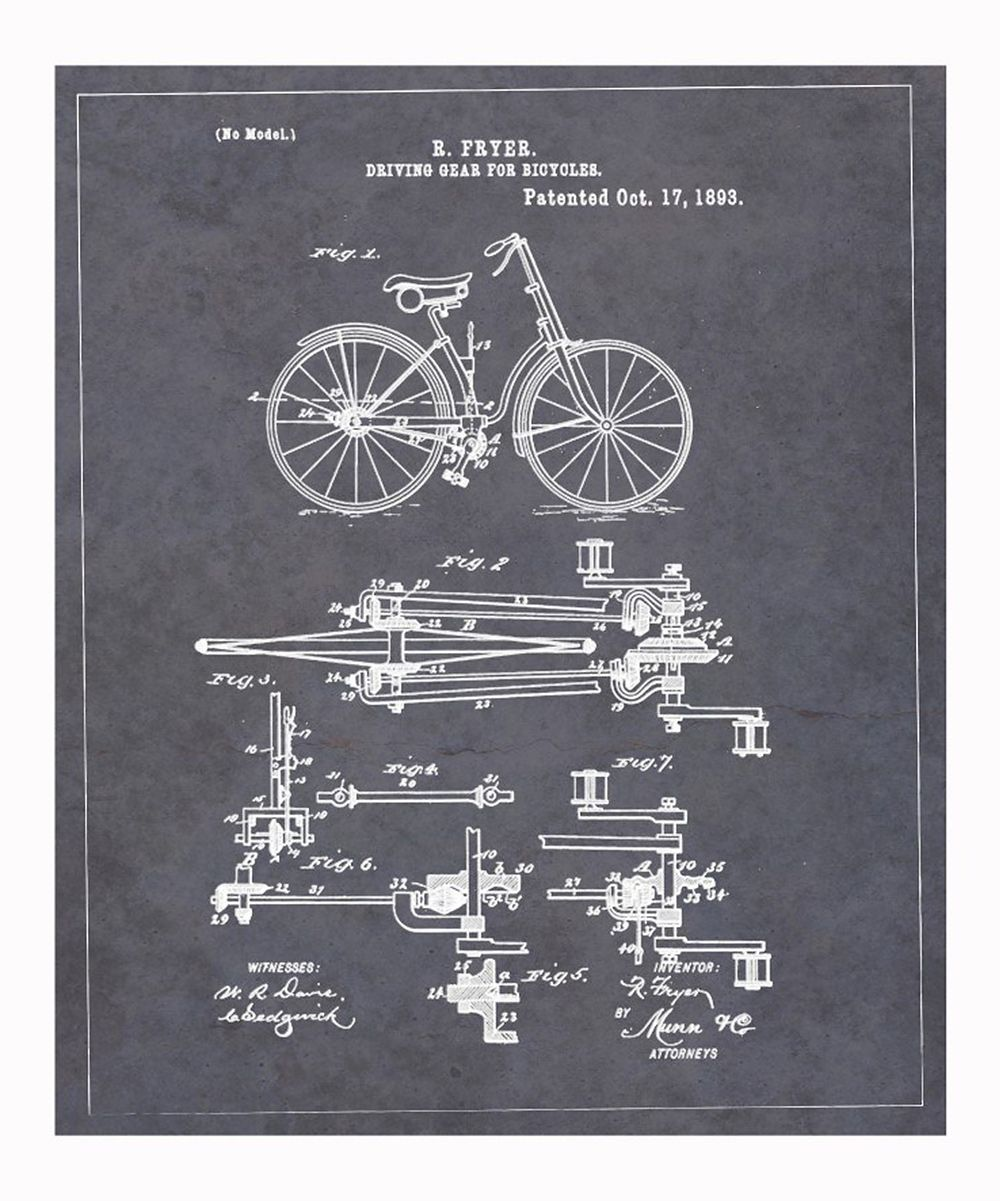 Driving Gear for Bicycles 1893 Art Print | something special every day