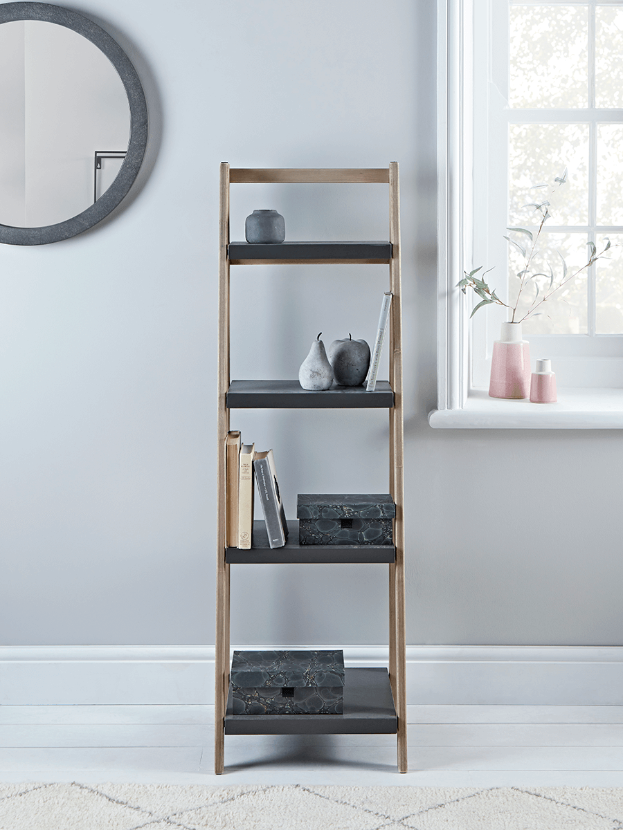 Grey Topped Shelf Unit Shelves Living Room Shelves Shelf Unit