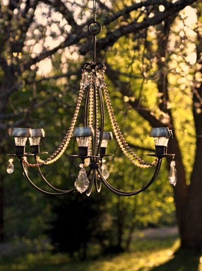 Refurbished Chandelier Turned Into Solar Lighting For The