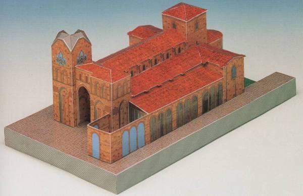 San Vicente De ávila Basilica De Los Santos Hermanos Mártires Vicente Sabina Y Cristeta A Church In ávila Spain One Paper Crafts Paper Models Paper Art