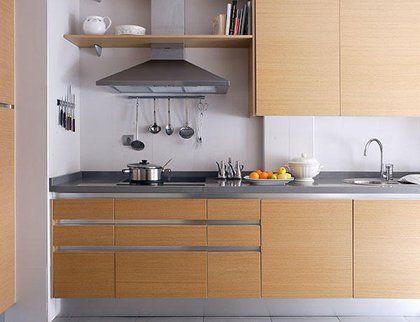 Dise o cocinas en madera tanto modernas como m s cl sicas - Cocina moderna pequena ...