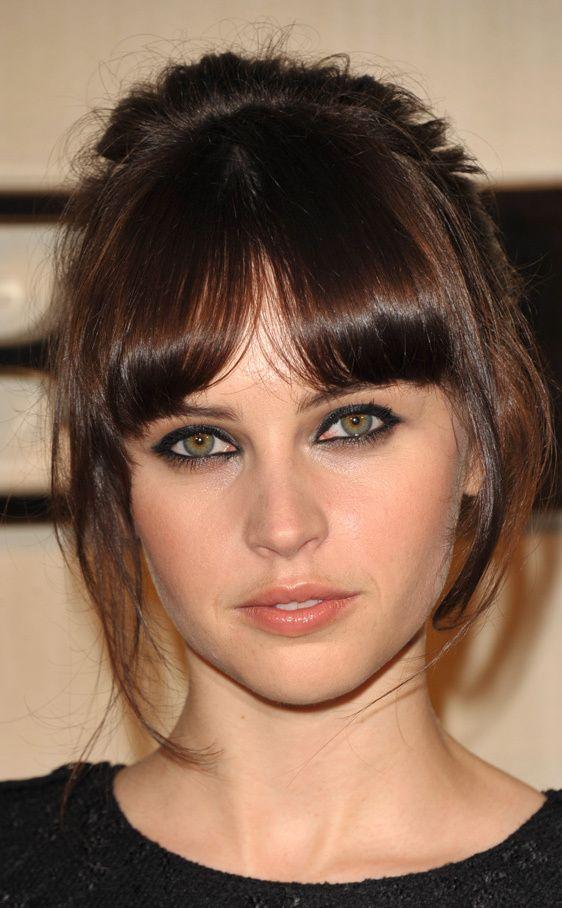 Recogido Minimal Felicity Jones Pelo Pinterest Peinados - Peinados-flequillo-recogido
