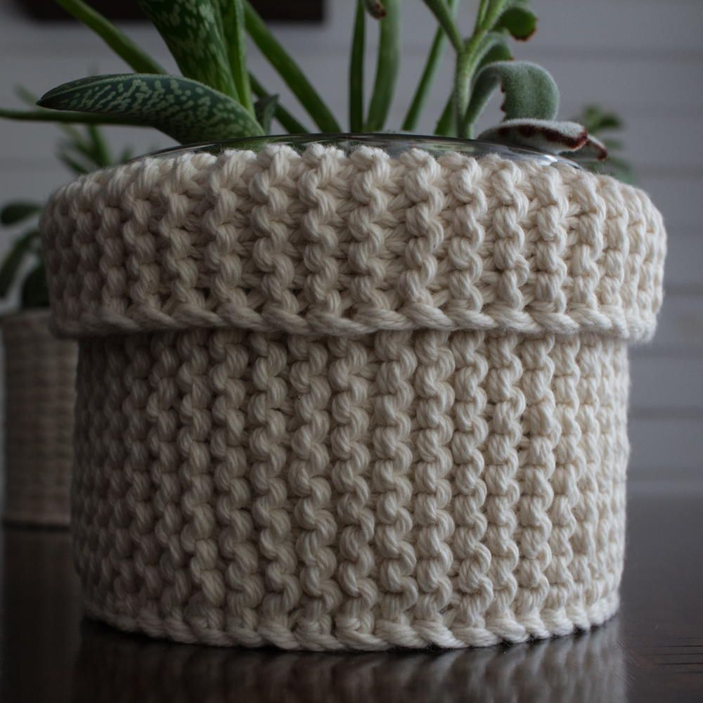 Garter Stitch Plant Cozy Knitting Pattern | Quick knitting ...