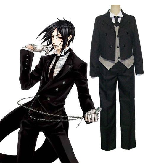 Cheap Black Butler Cosplay Kuroshitsuji Sebastian Michaelis Costume For Sale Online | Black ...