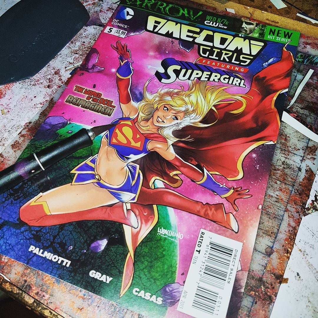 Next up... #supergirl ! #dc #comicbooks #dceu #anime  #dcsuperheroes #montreal #upcycle #starkematter #artlife #collage #superheros