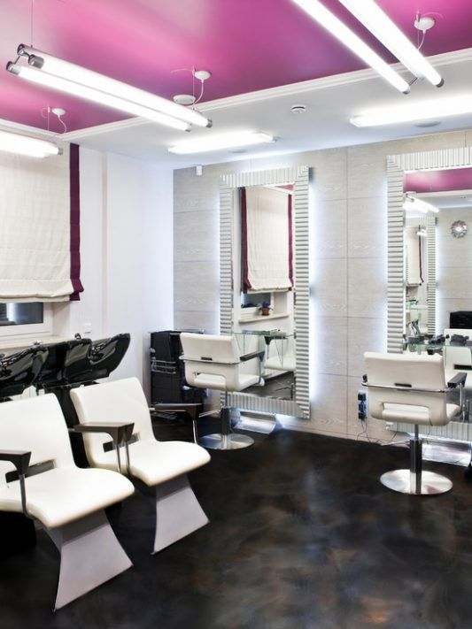 Sejuta Manfaat Penggunaan Cat Lantai Epoksi Interior Salon Kecantikan Salon Interior Design Ruang Kecantikan