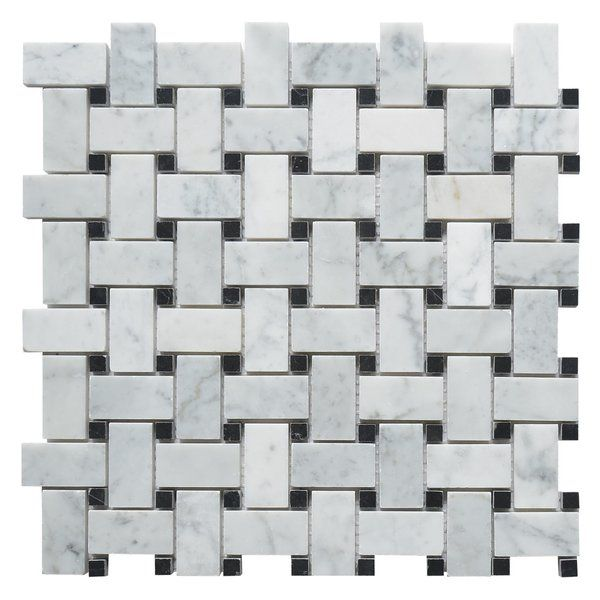 You 39 Ll Love The Carrara Honed Basketweave 1 Amp Amp Quot X 2 Amp Amp Quot Marble Mosaic Tile In White At Marble Mosaic Tiles Marble Mosaic Mosaic Tiles