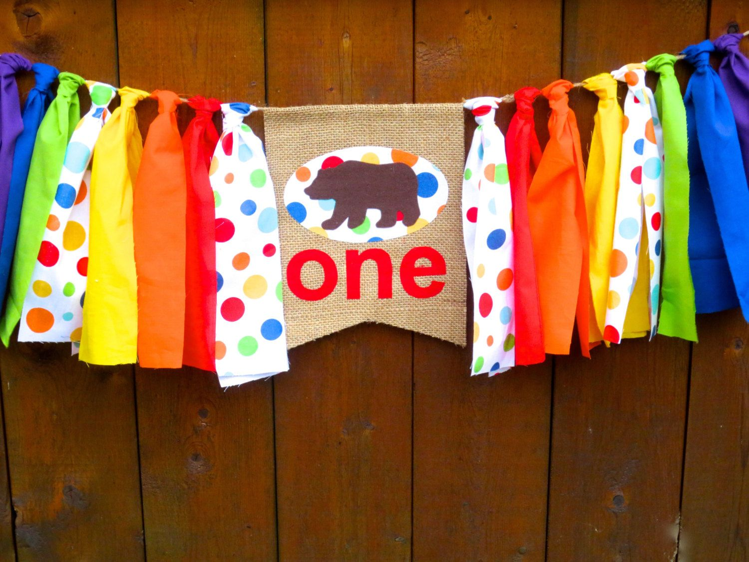 BROWN BEAR Birthday Banner Highchair High Chair Rainbow First One Garland ONEderland  Noah's Ark Woodland Teddy Bear Photo Prop Party Deco by SeacliffeCottage on Etsy https://www.etsy.com/listing/258185722/brown-bear-birthday-banner-highchair