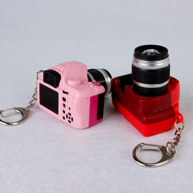 2016 new style camera sound light led keychains flashlight sound rings toys simulation camera cartoon keychains child gift