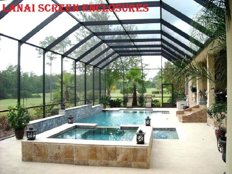 Lanai Screen Enclosures Pool Screen Enclosure Pools Backyard Inground Pool Enclosures