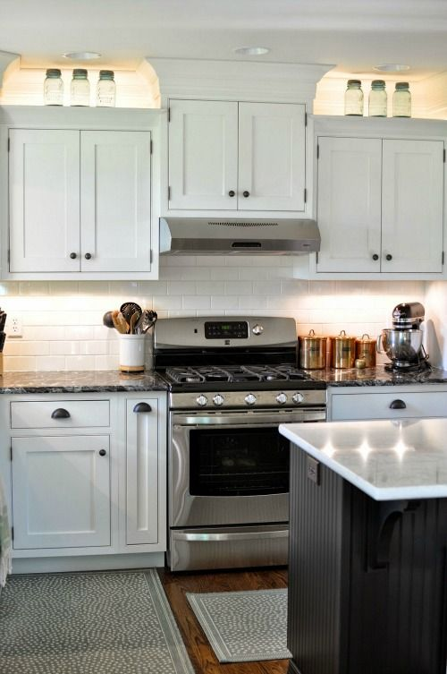 Elegant White Subway Tile Backsplash Pictures