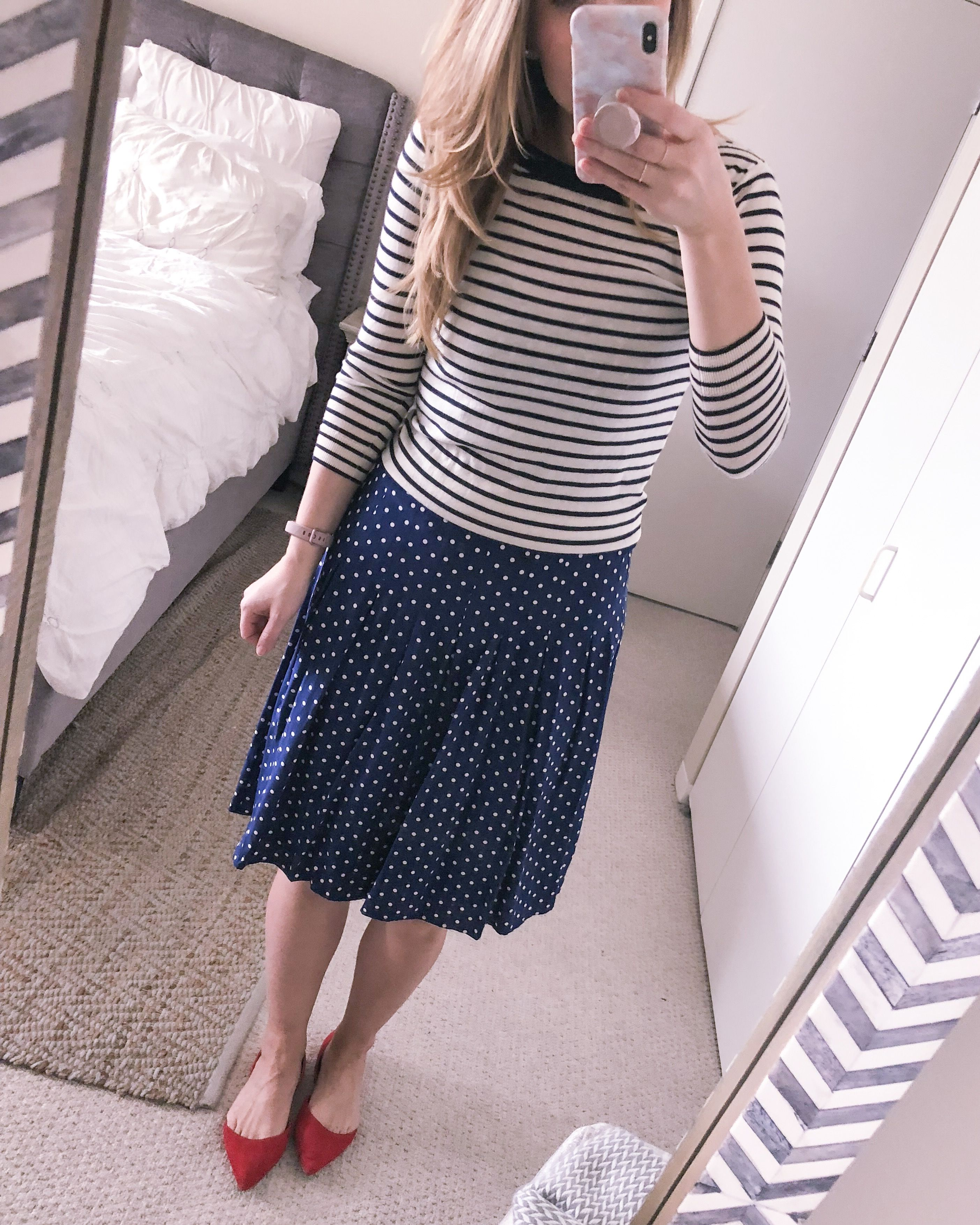 ebab1d15b6 Popular Chicago style blogger Visions of Vogue shares how to style a polka  dot dress multiple
