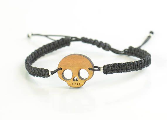 Gift for men.Skull Bracelet for men. Mens gift. Mens bracelet.