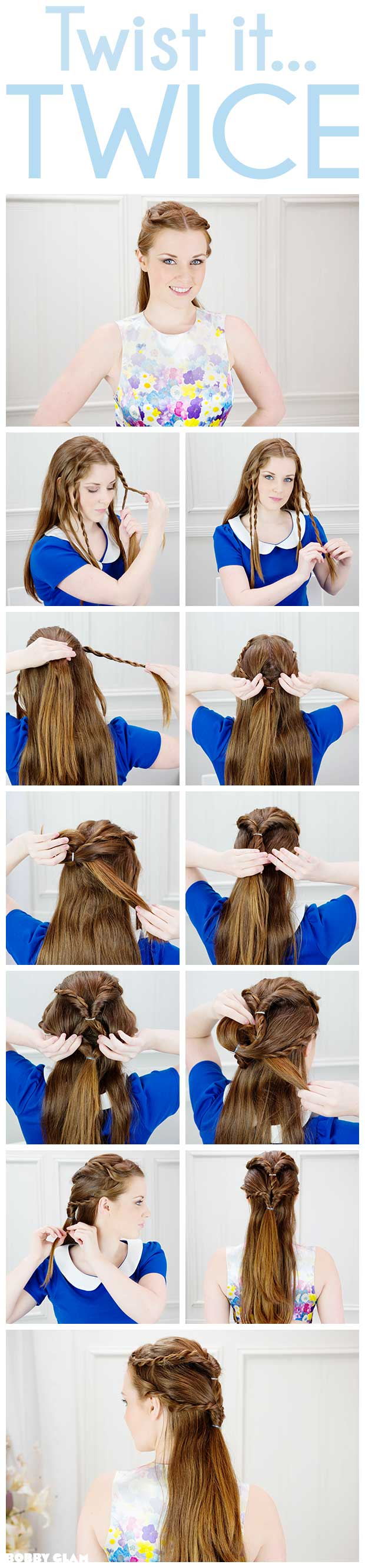 My twist it twice hair tutorial creates a gorgeous style that is