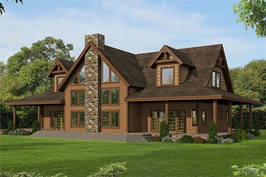 3 Bedrm 3967 Sq Ft Country House Plan 132 1703 Country Style House Plans Mountain House Plans Two Story House Plans